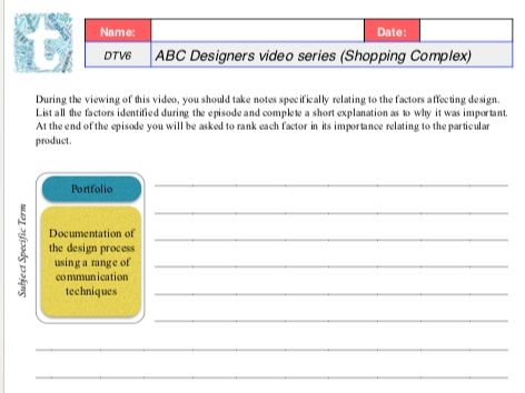 """Worksheets for the ABC series """"Designers"""""""