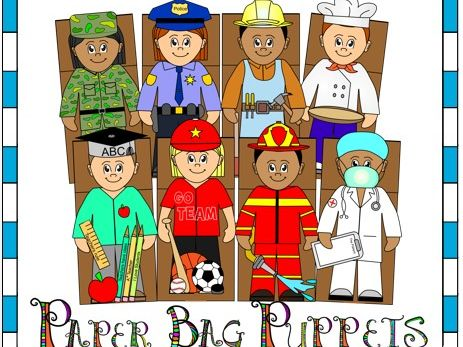 Occupations Paper Bag Puppets