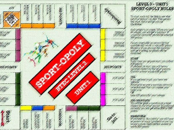 Anatomy and Physiology Revision Monopoly