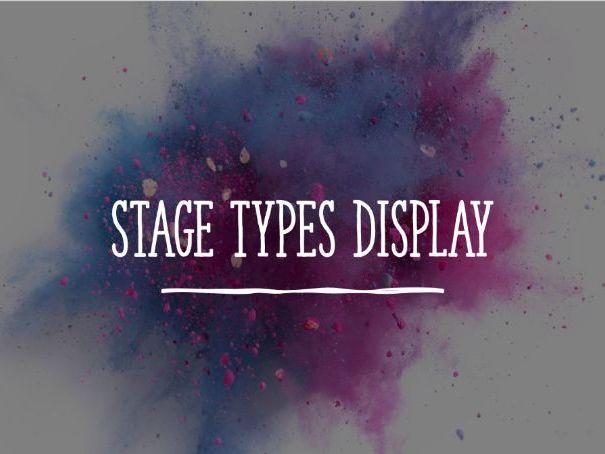 Stage Types Display
