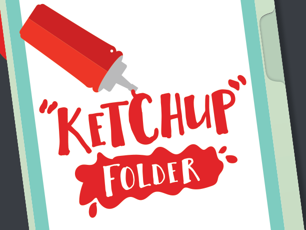 Ketchup Folder Cover – Absent Work Printable