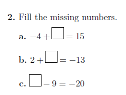 Adding and subtracting positive and negative numbers worksheet no 5 (with solutions)