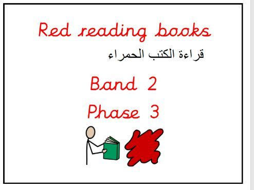 Reading band labels Eng/Arabic