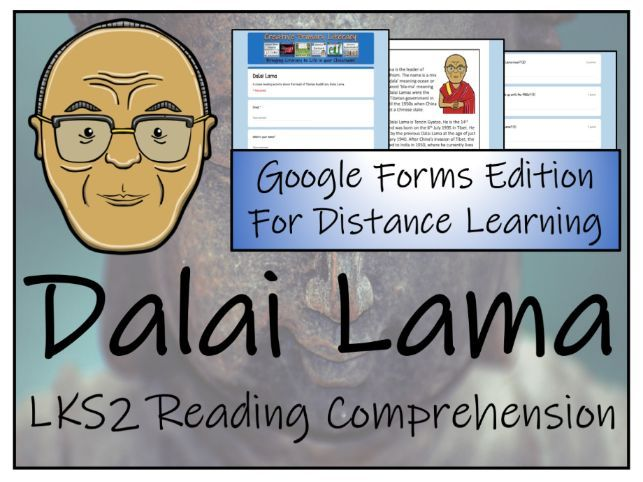 LKS2 Dalai Lama Reading Comprehension Activity | Digital & Print