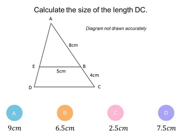 Similar shapes (Length, area, volume)