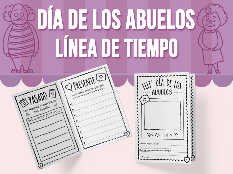 Día de los Abuelos - Línea de Tiempo - Tarjeta - SPANISH VERSION