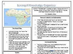 Ecosystems Knowledge Organisers