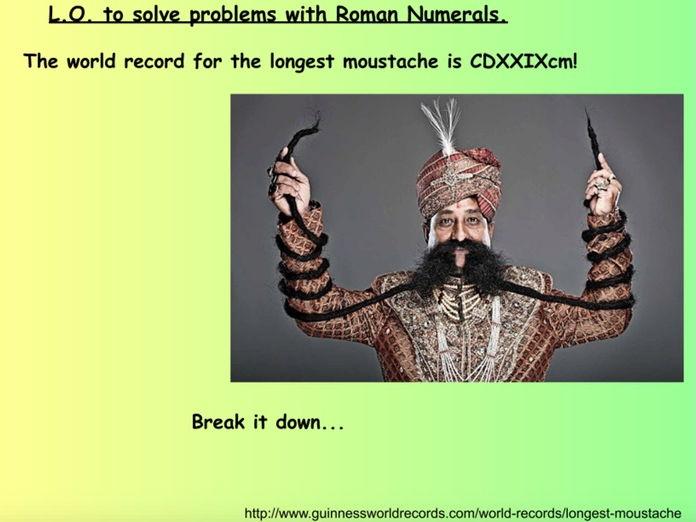Y5 Y6 Roman Numerals Problems Mastery Fluency Lesson