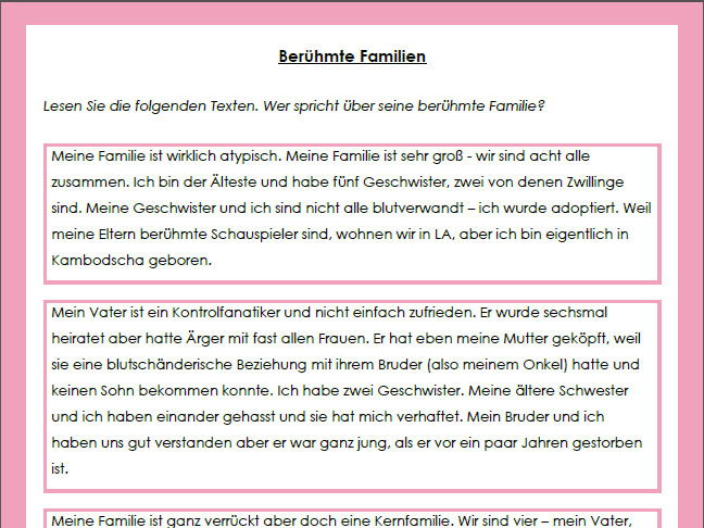 Present Tense in German by anyholland - Teaching Resources - Tes