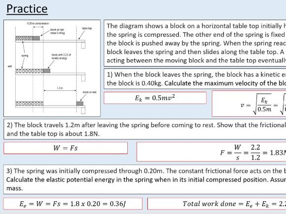 A level Physics (11.2) Springs (Materials)