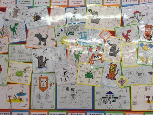 Fun Transformations - Translations, Reflections, Rotations, Enlargements and Combined Transformation