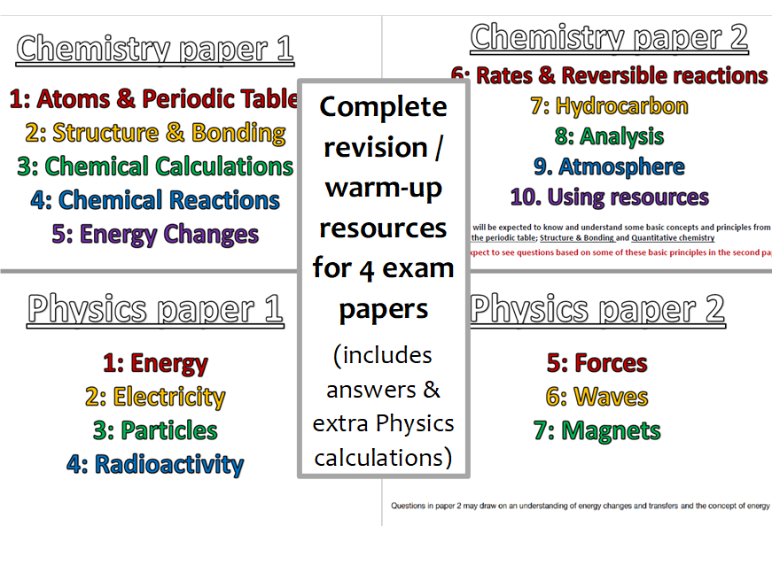 Aqa 9 1 Gcse Sciencephysics Higher Multi Step Calculations