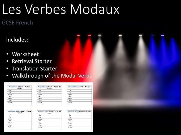 Les Verbes Modaux I French GSCE AQA