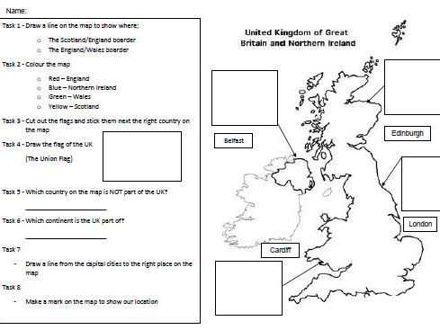 Map Of England Drawing.Uk Map Questions For Ks1 Ks2 By Brown Danny Teaching Resources
