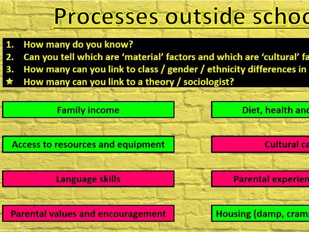 GCSE Sociology (Eduqas) - Education Revision Session powerpoint