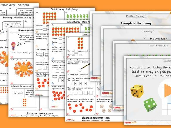 Year 1 Make Arrays Summer Block 1 Lesson Pack