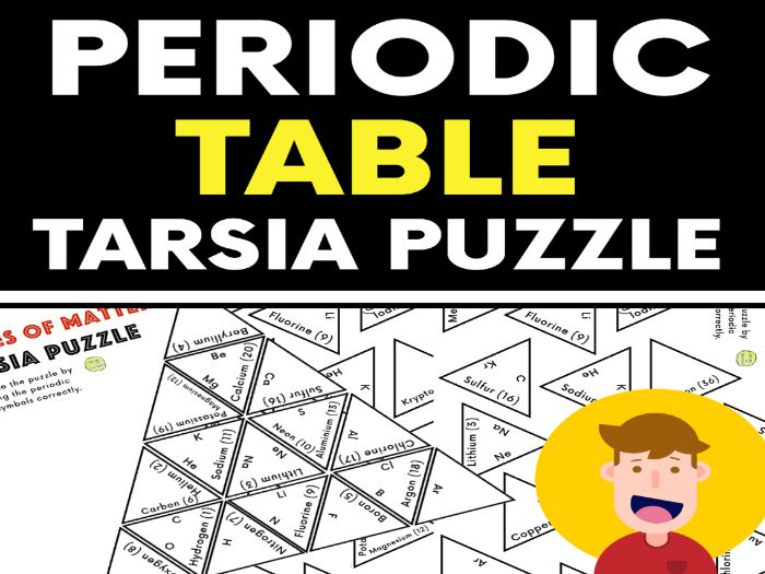 Periodic Table Tarsia Puzzle Activity