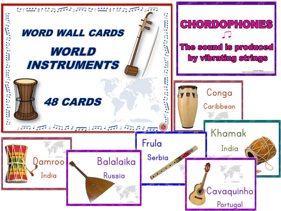 World Instrument Posters