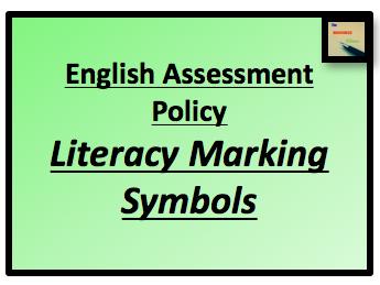 Literacy Marking Symbols and Grading