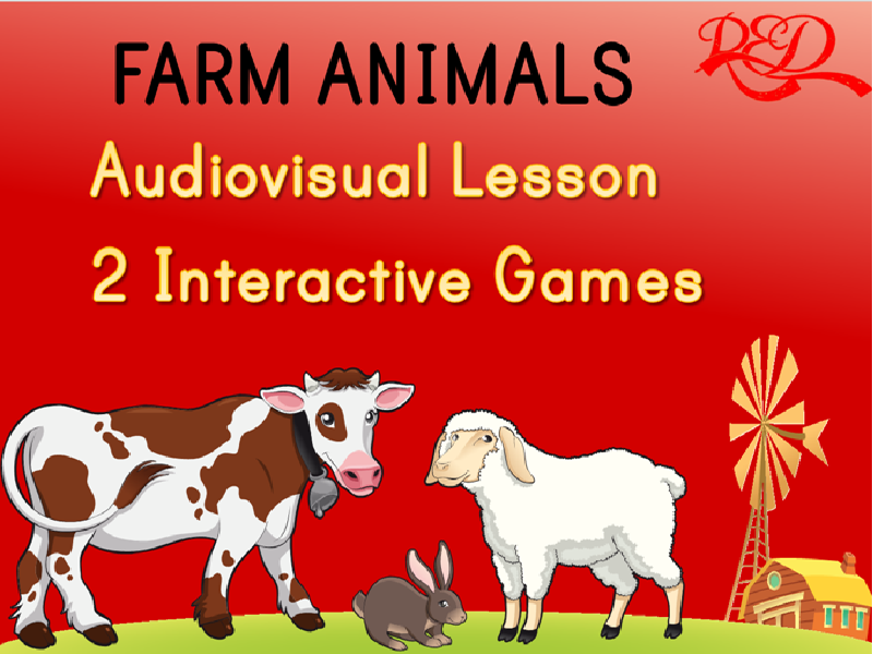 FARM ANIMALS Powerpoint Lesson