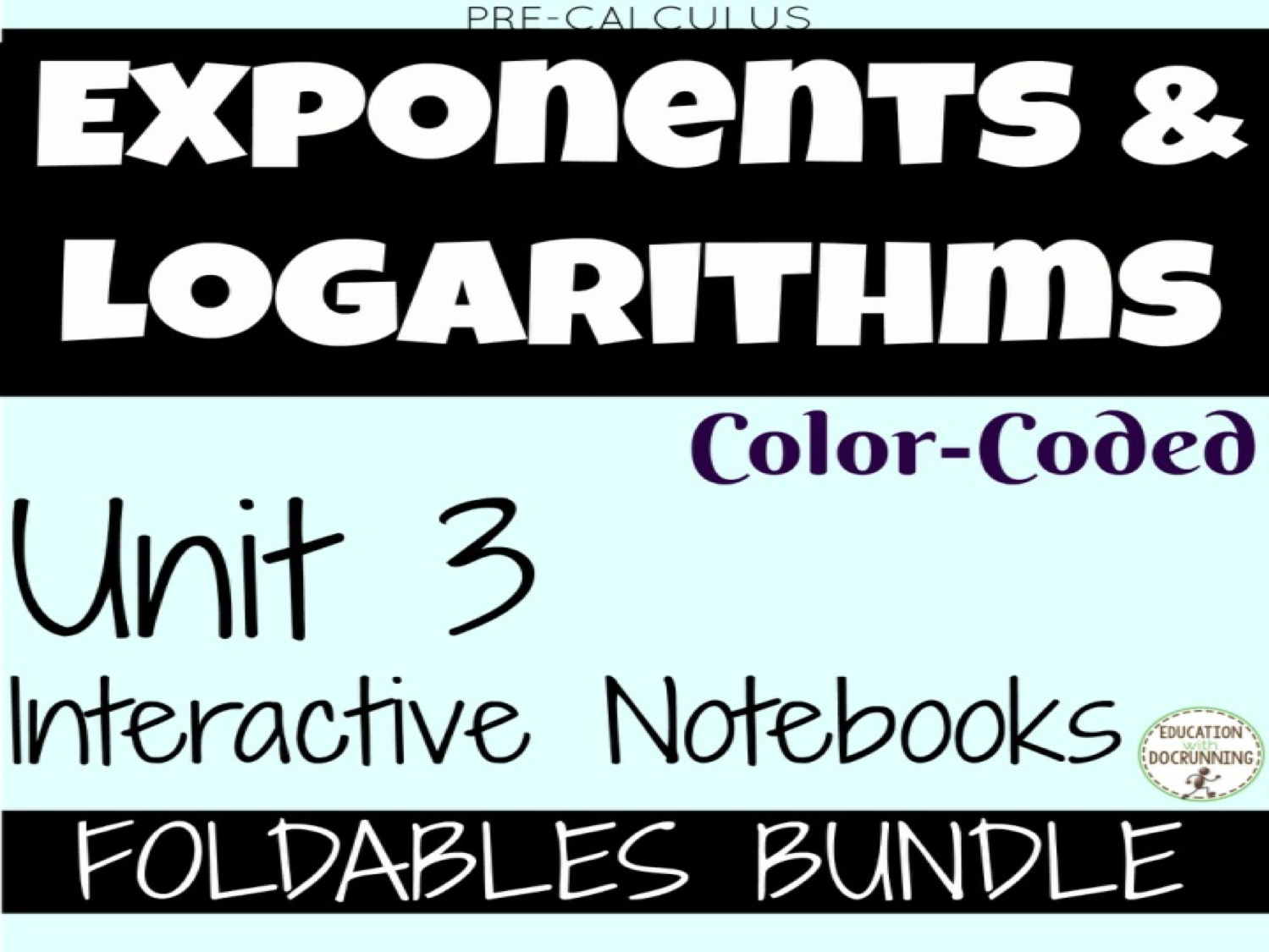 Exponents and Logarithms for Precalculus FOLDABLES Only Bundle