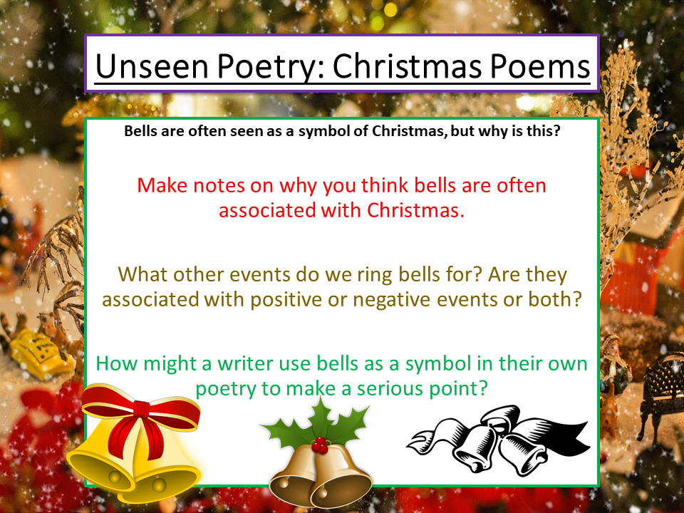 Christmas Poetry - Comparing Unseen Poems