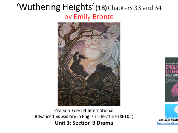 A Level Literature (18) 'Wuthering Heights' – Chapters 33 and 34