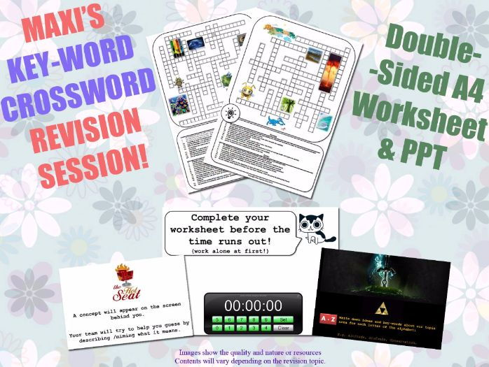 Drama GCSE Key-Word Revision Sessions [Crosswords & Games] (Exam Preparation)
