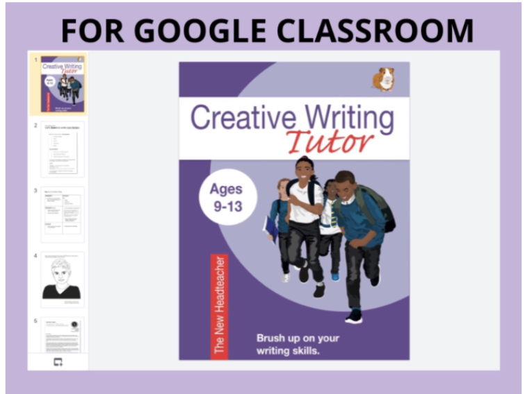The New Headteacher: Creative Writing DIGITAL GOOGLE CLASSROOM Resource (9-13)