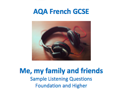 French GCSE Listening - Identity and Culture