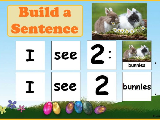 Easter Build a Sentence for Speech Therapy