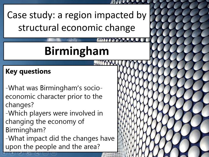 OCR A Level Geography- Birmingham case study