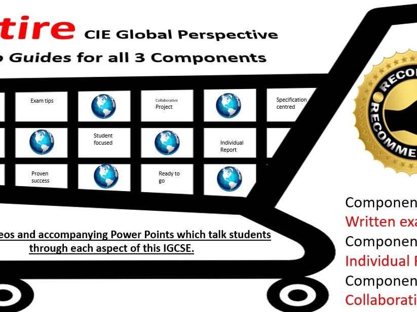 CIE IGCSE Global Perspectives - Masterclass Video Guides for All 3 Components (Bundle)