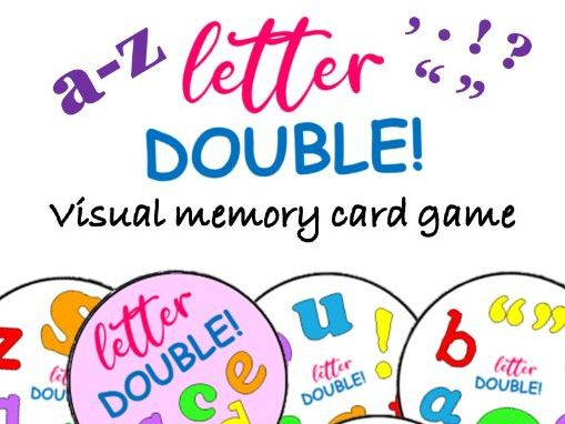 DOUBLE! Letter Matching Visual Memory Game