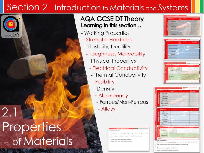 AQA GCSE DT 2.1 Properties of Materials