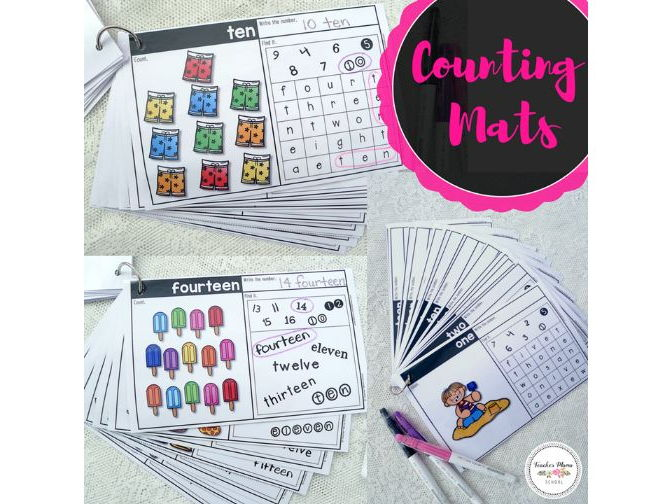 Summer Math Centre - Numbers 1 to 20 : Counting Mats