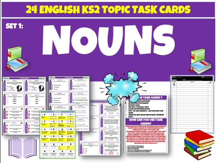 Nouns Set 1 - English Task Cards