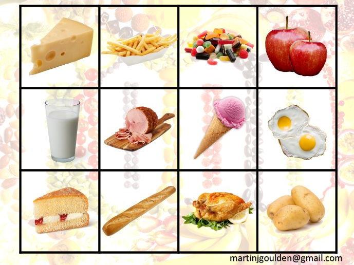 Spanish - I like food - Interactive Whiteboard Game