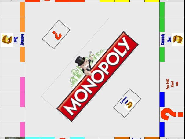 Monopoly Game Board Template | Monopoly Board Template By Swift Sonya Teaching Resources Tes