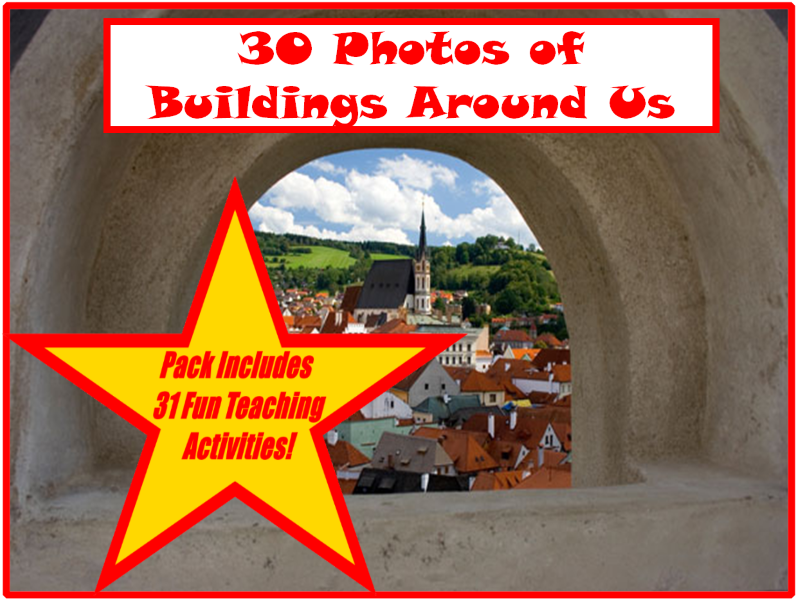 30 Building Photos From Around The World PowerPoint Presentation + 31 Fun Teaching Activities