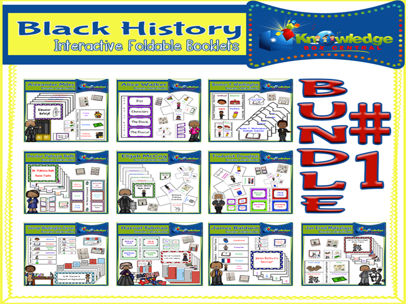 Black History Interactive Foldables Bundle #1