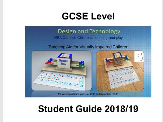 GCSE 9-1 Design and Technology NEA Student Guide (AQA
