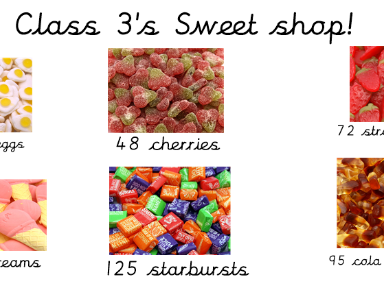 Fractions of an Amount - Sweet Shop