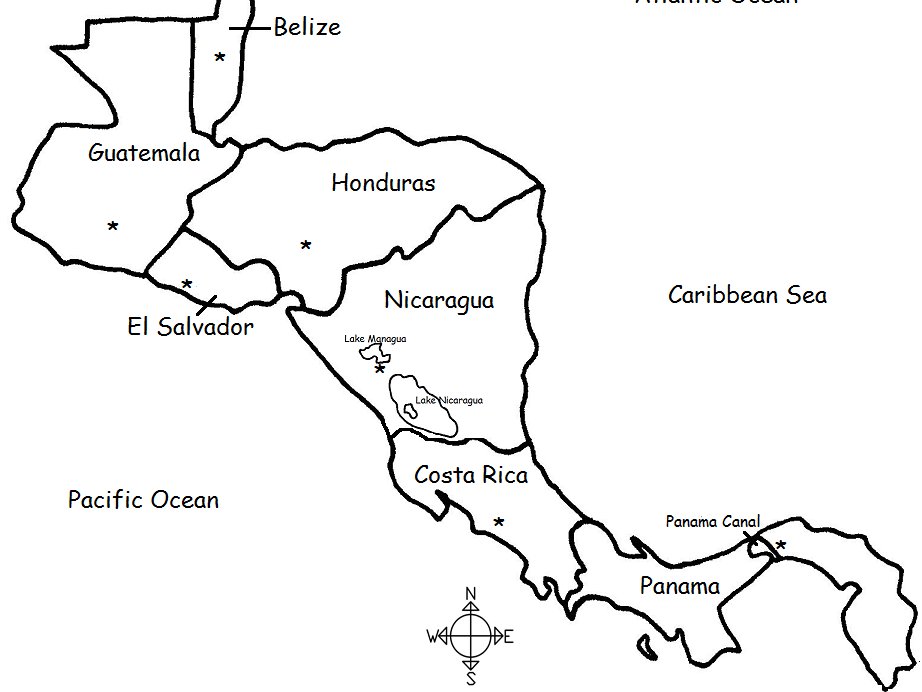picture about Printable Maps of Central America referred to as Central The us - Nations and Capitals - Printable Handout