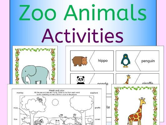 zoo animals activities pack for a zoo topic or efl esl eal by llanguagellamas teaching resources. Black Bedroom Furniture Sets. Home Design Ideas
