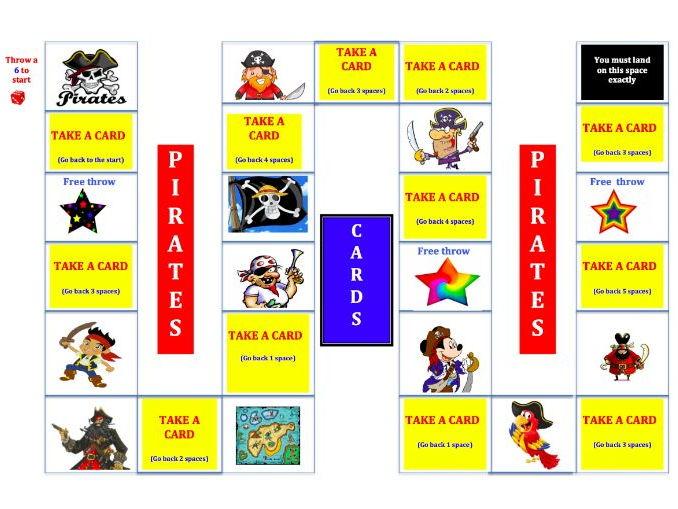 KS1 Pirate Maths Board Game