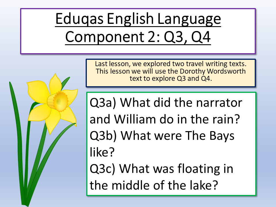 Eduqas English Language Component 2 Q4