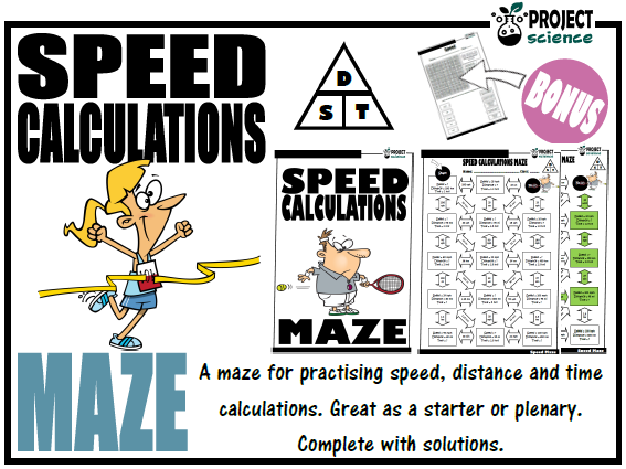Speed, Distance and Time Calculations Maze