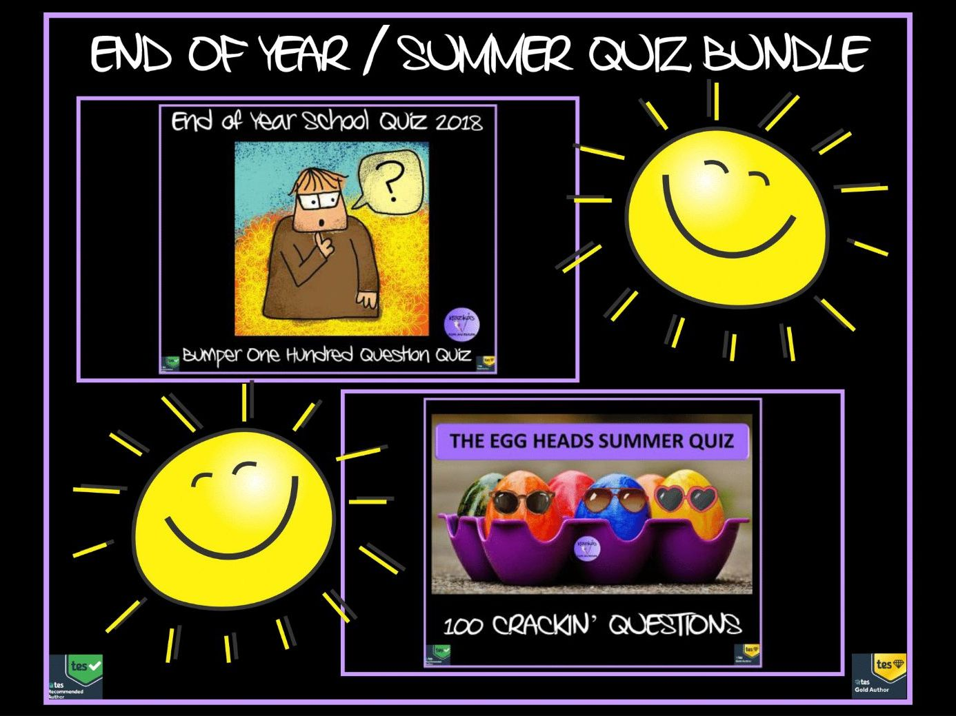 Quiz: End of Year Quiz / Summer Quiz Bundle