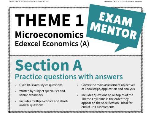 Edexcel Economics (A) - Section A practice questions - MICROECONOMICS